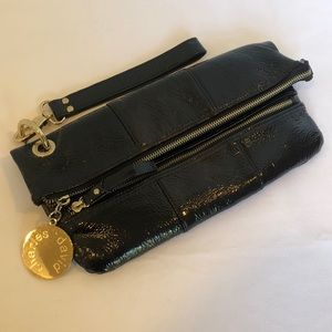 Charles David Black Clutch Gold Hardware
